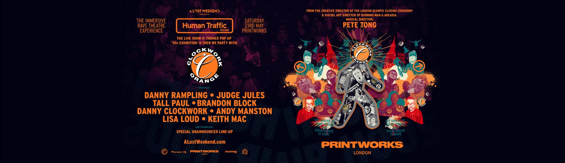 Human Traffic Live x Icons of Clockwork Orange