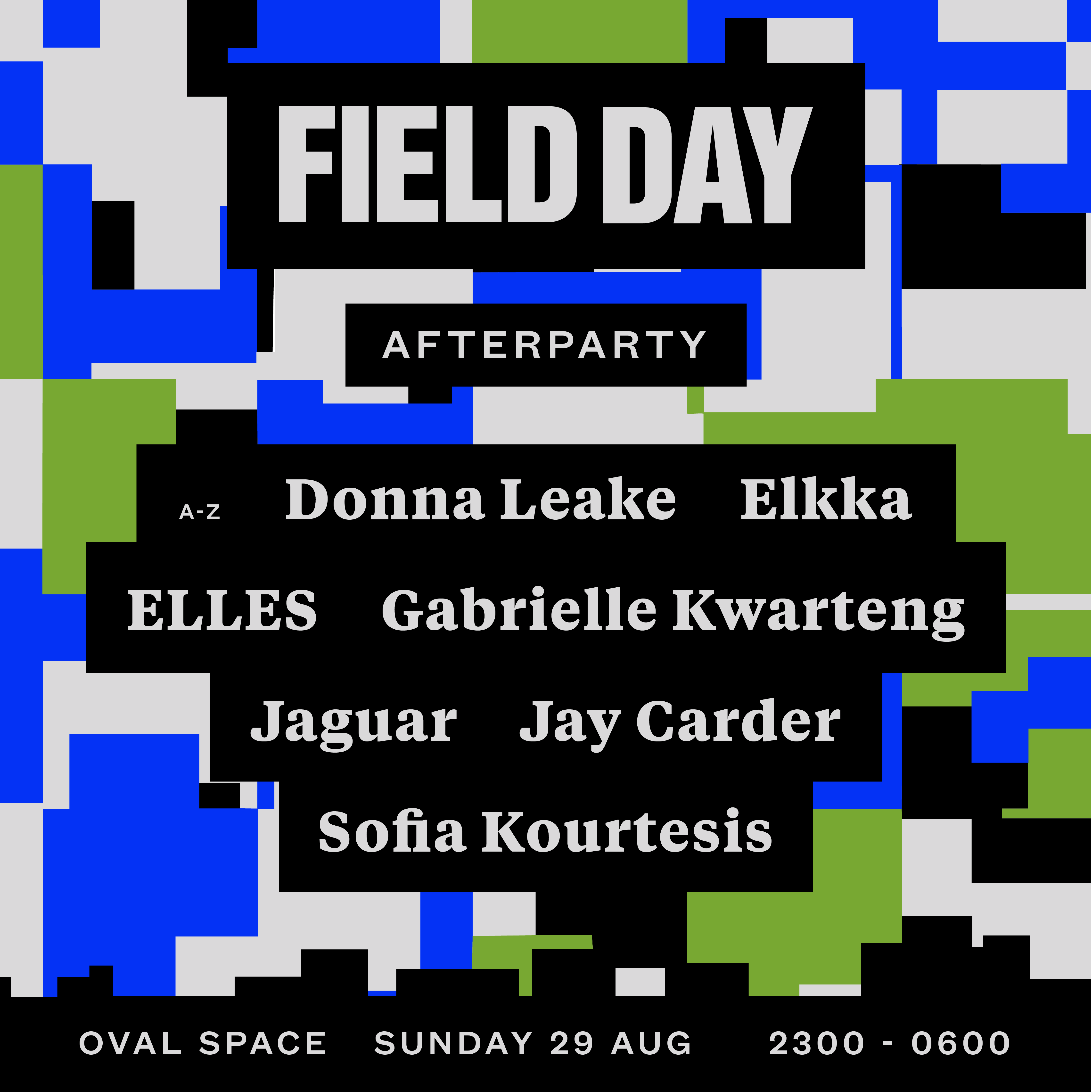 Field Day Afterparty Lineup