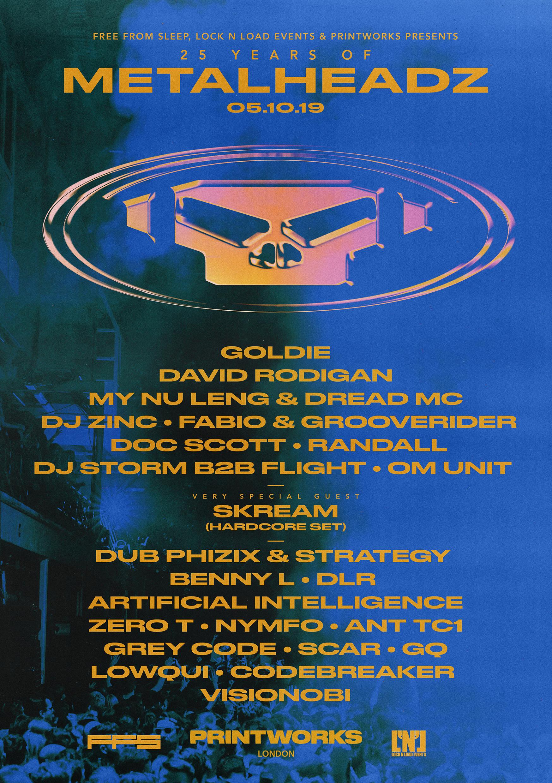 25 Years of Metalheadz Lineup