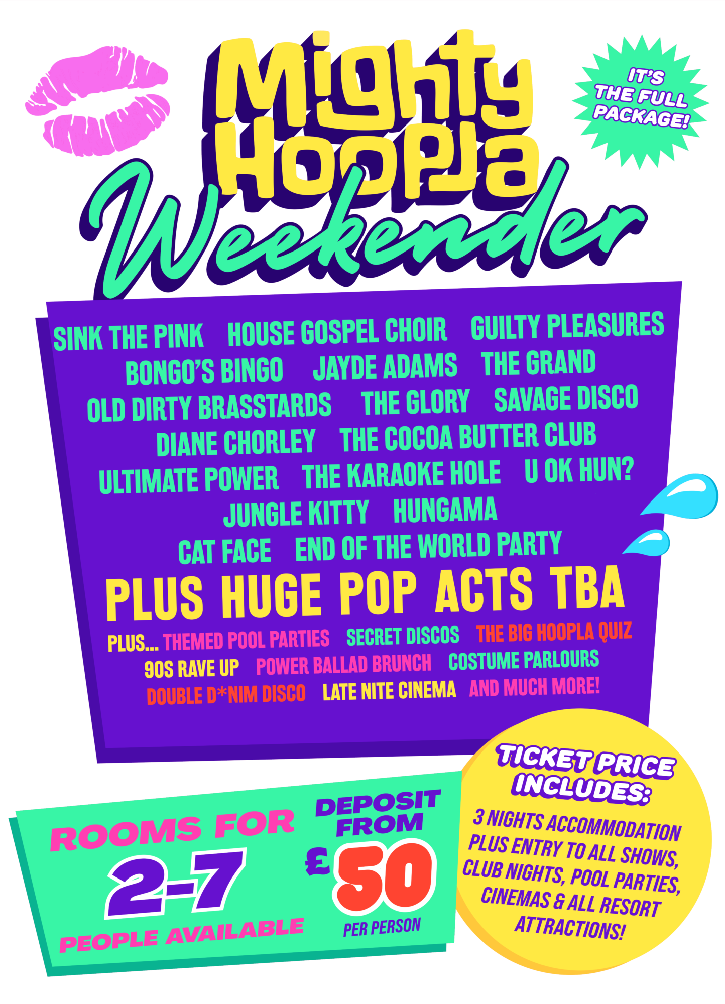 Mighty Hoopla Weekender Lineup
