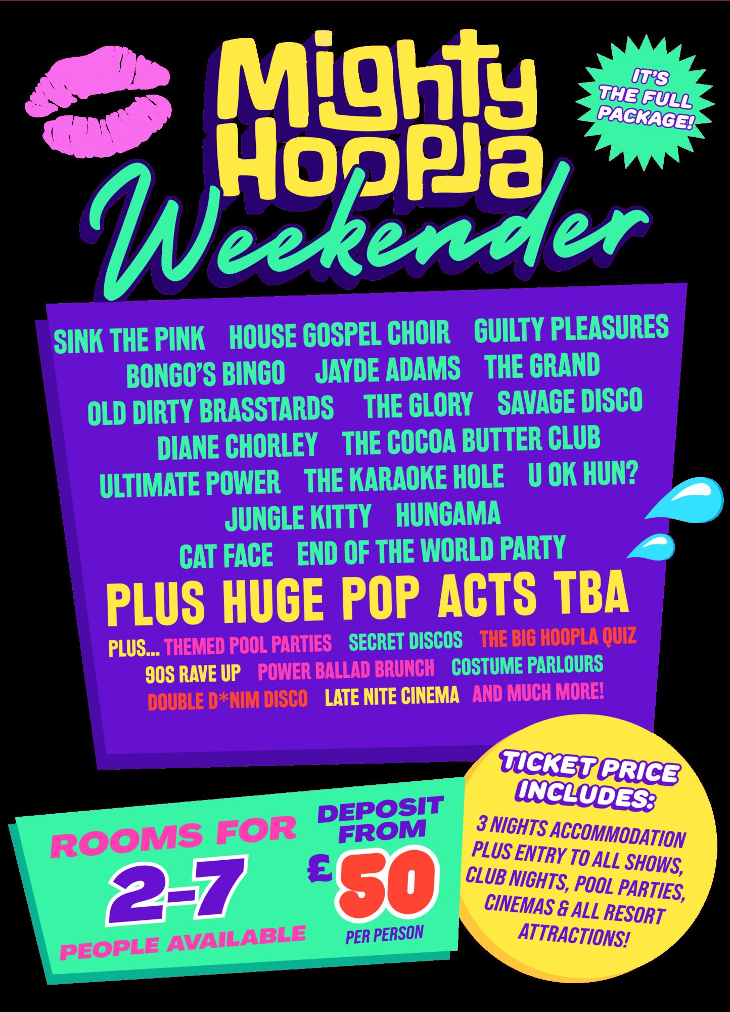Mighty Hoopla Weekender Lineup